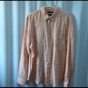 Men's Banana Republic 100% Linen shirt Camden fit